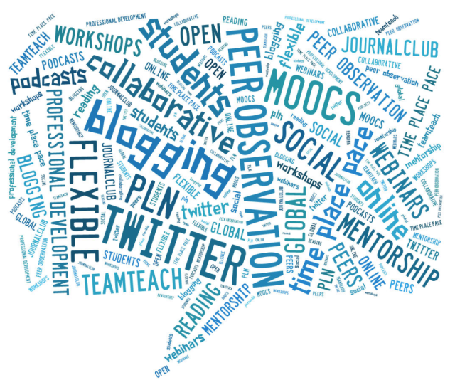 professional development wordcloud